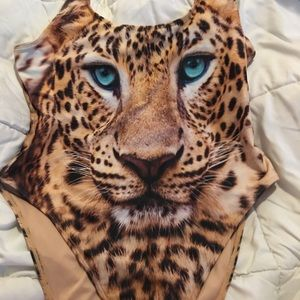 Forever 21 Tiger One piece bathing suit. XL